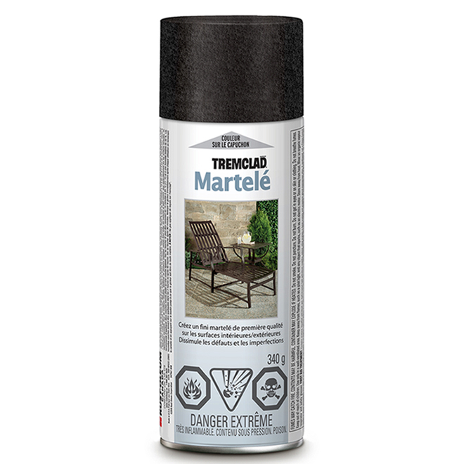 Tremclad - Antirust Paint - 340 g - Hammered Finish - Black