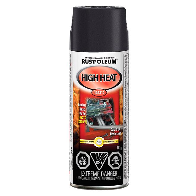 Automotive High Heat Spray Paint 340g - Flat black