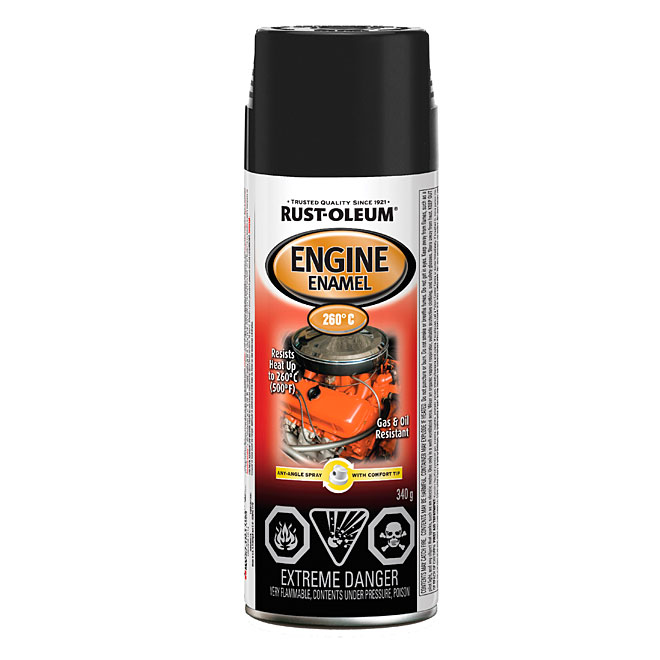 Peinture haute température pour moteur 340g - Noir lustré
