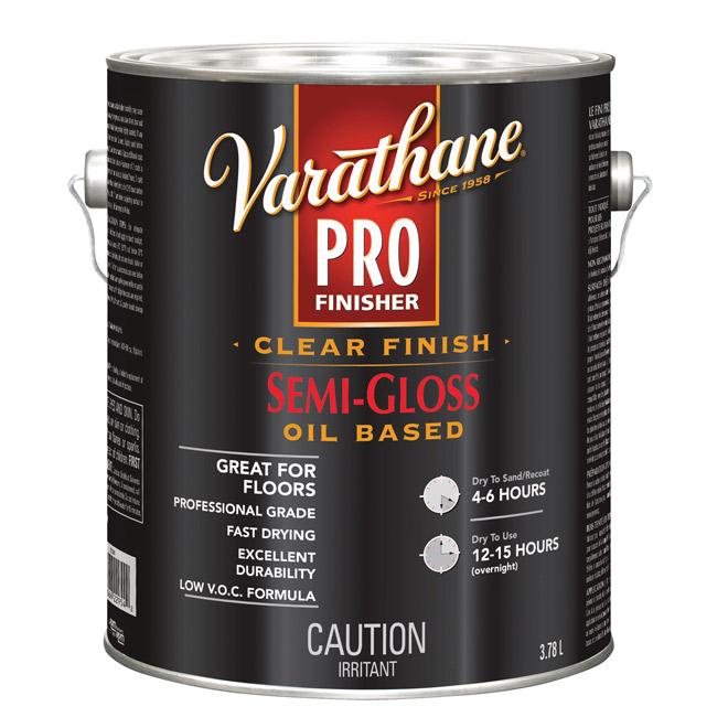 Varathane Pro - Floor Paint - 3.78 L - Semi-Gloss - Clear