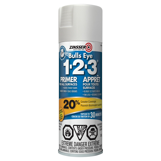 Apprêt intérieur/extérieur Bulls Eye 1-2-3(MD), 369 g, blanc