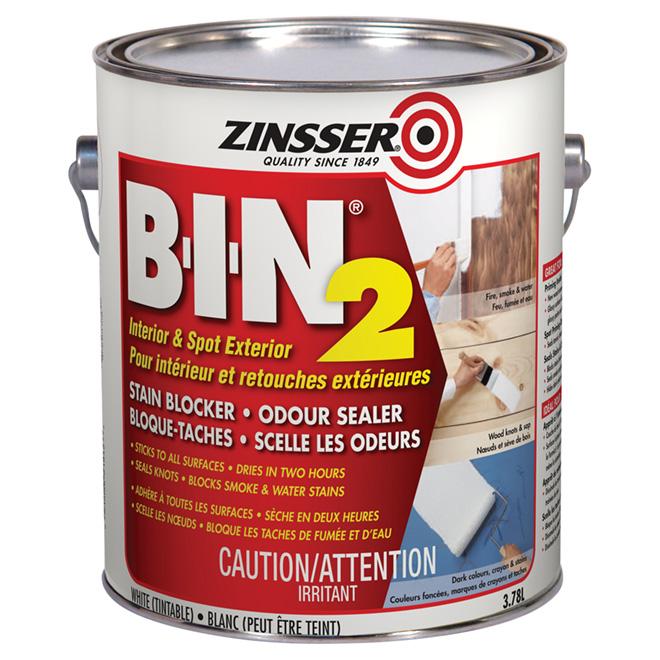 """""""B-I-N 2"""" Stain-Blocker Primer - 3.78 L - White"""