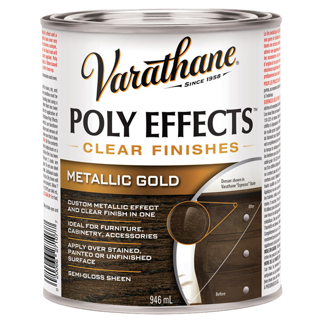 Varnish - Poly Effects - Semi-Gloss - Metallic Gold