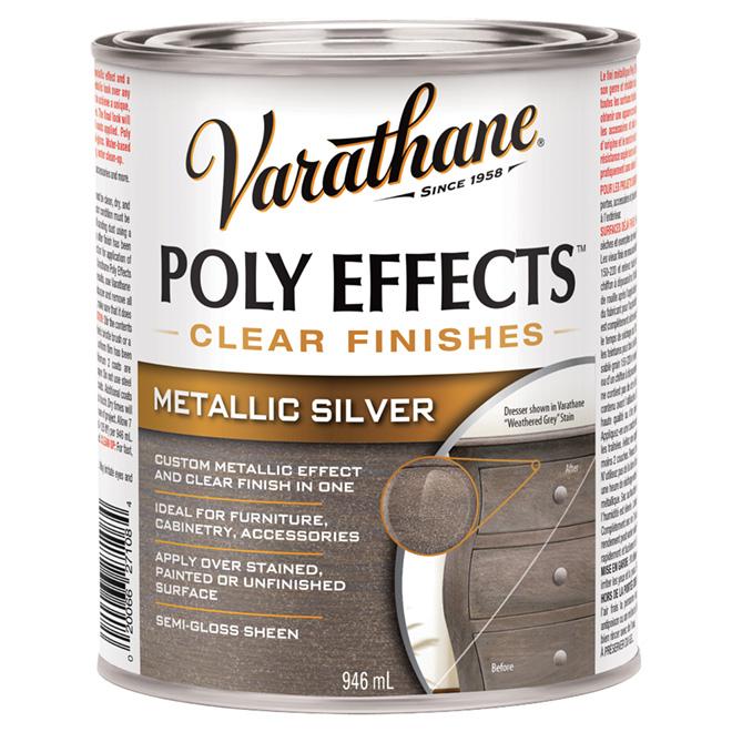 Varnish - Poly Effects - Semi-Gloss - Metallic Silver