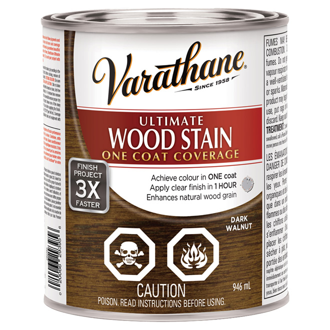 """Ultimate"" One-Coat Wood Stain - Dark Walnut"
