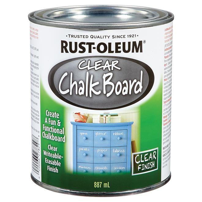 Rust-Oleum - Chalk Board Paint - 887 mL - Clear