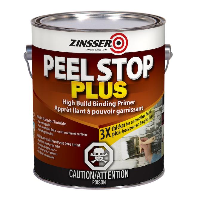 Apprêt liant à base d'eau, Zinsser Peel Stop Plus, 3,78 L blanc