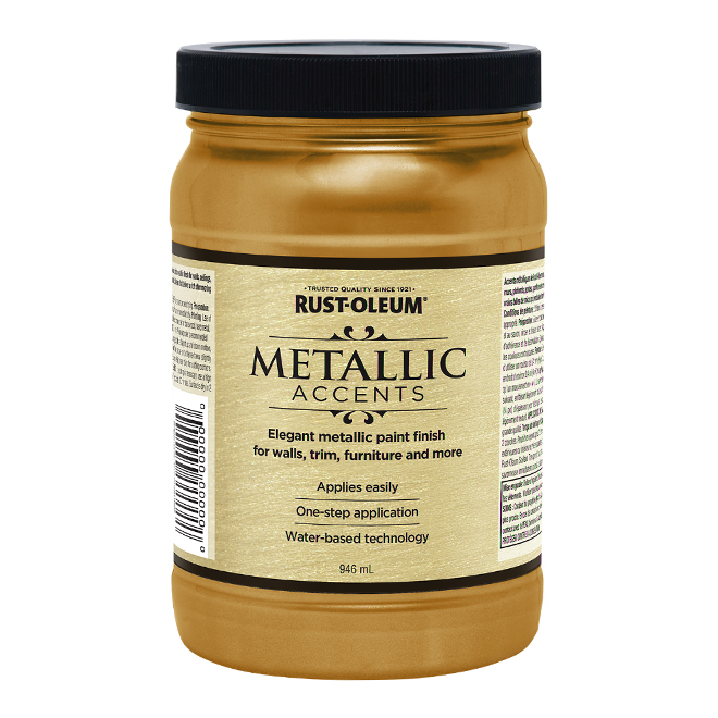 Water-Based Metallic Paint - 946 mL - Gold Soft