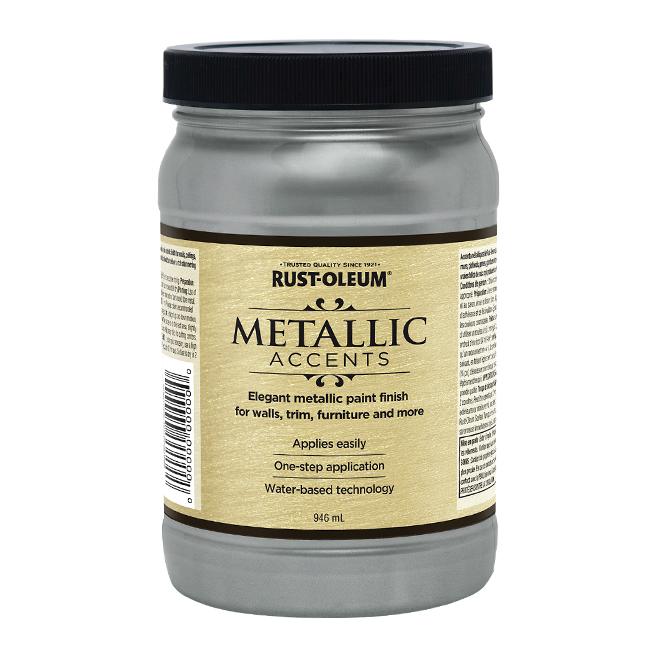 Water-Based Metallic Paint - 946 mL - Real Pewter