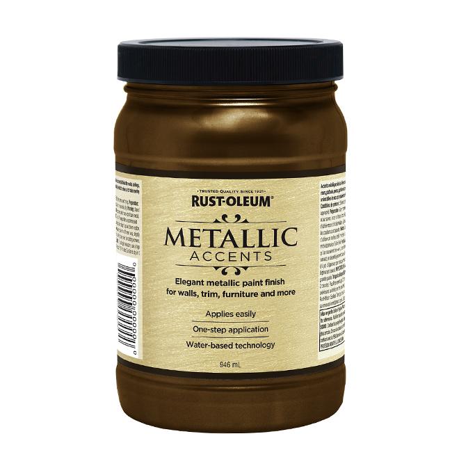 Water-Based Metallic Paint - 946 mL - Rich Brown
