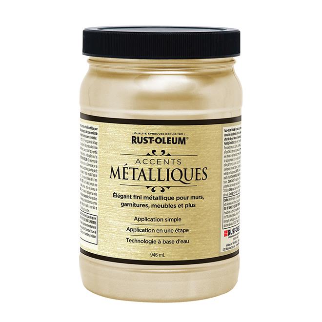 Peinture métallique à base d'eau, 946 ml, coquillage