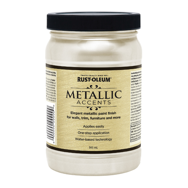Water-Based Metallic Paint - 946 mL - White Pearl