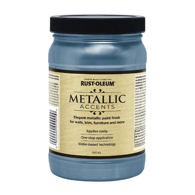 Water-Based Metallic Paint - 946 mL - Harbour Sky