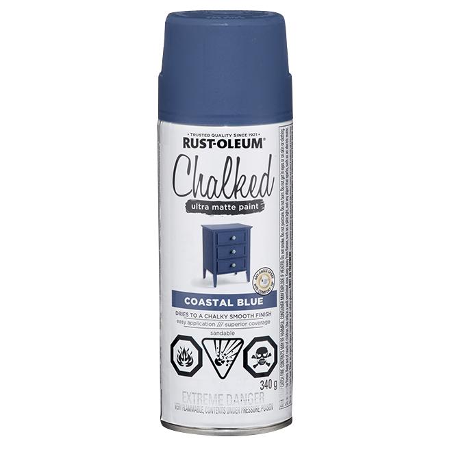 Rust-Oleum Aerosol Chalked Paint - 340 g - Ultra Matte - Coastal Blue
