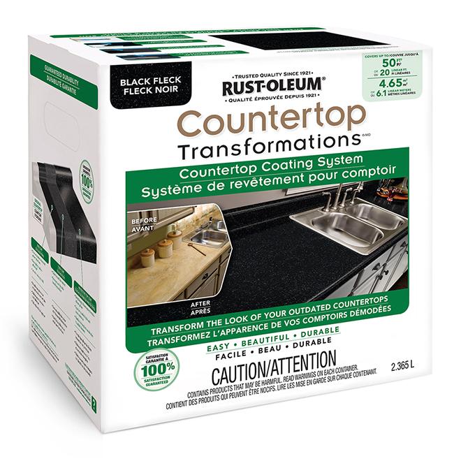 Rust-Oleum - Countertop Coating System - 2.36L - Black Fleck