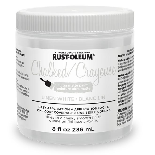 Peinture crayeuse Rust-Oleum, 236 ml, ultra mate, blanc lin