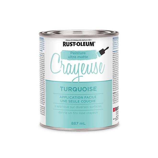 Peinture crayeuse, 887 ml, turquoise