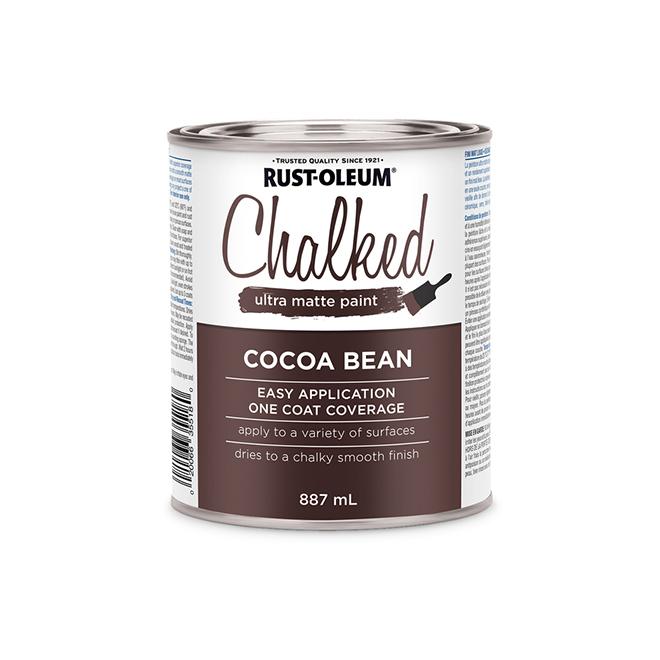 Rust-Oleum Chalked Ultra Matte Paint - 887 ml - Cocoa Bean