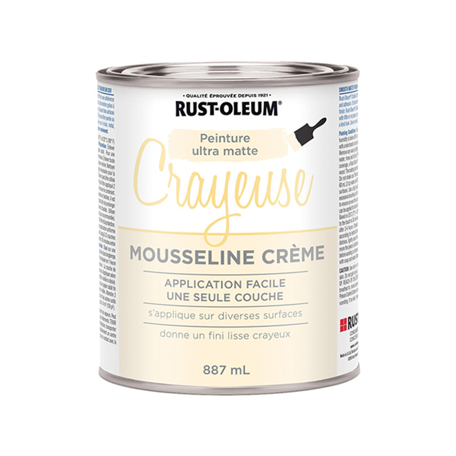Peinture crayeuse Rust-Oleum, 887 ml, ultra mate, mousseline crème