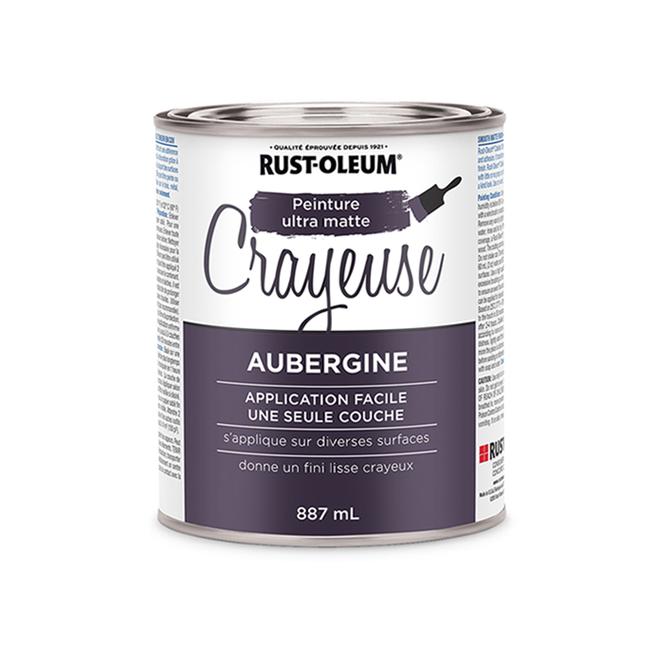 Peinture crayeuse Rust-Oleum, 887 ml, ultra mate, aubergine