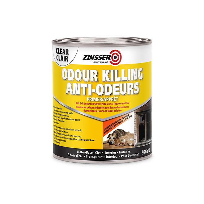Zinsser Odour Killing Primer - Water Based 946 ml Clear
