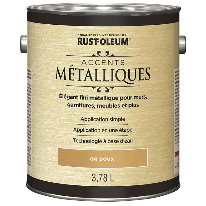 Peinture intérieure Accents métalliques, 946 mL, or doux