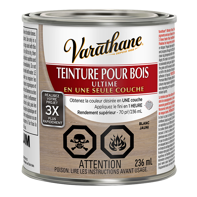 Teinture pour bois Ultime, 236 mL, blanc jauni