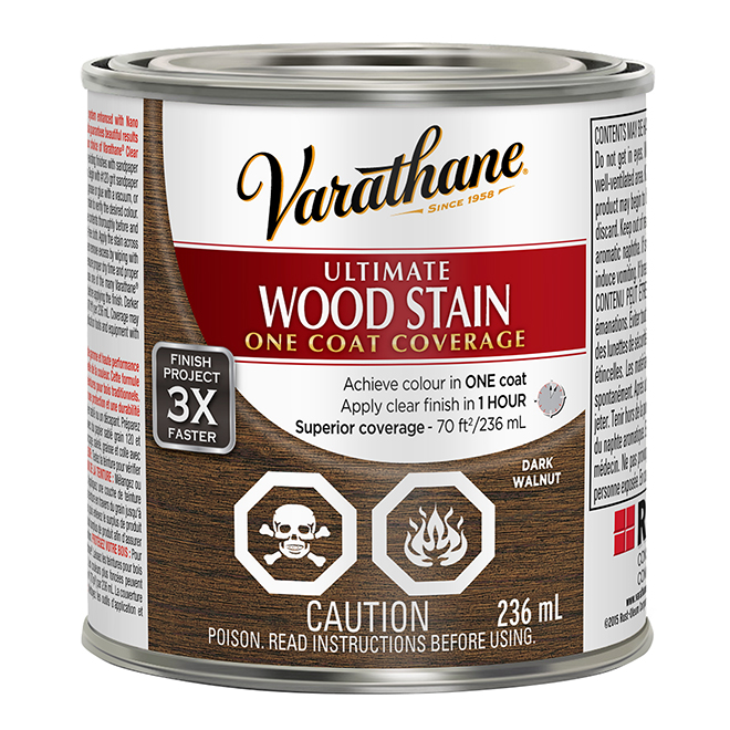 Ultimate Wood Stain - 236 mL - Dark Walnut