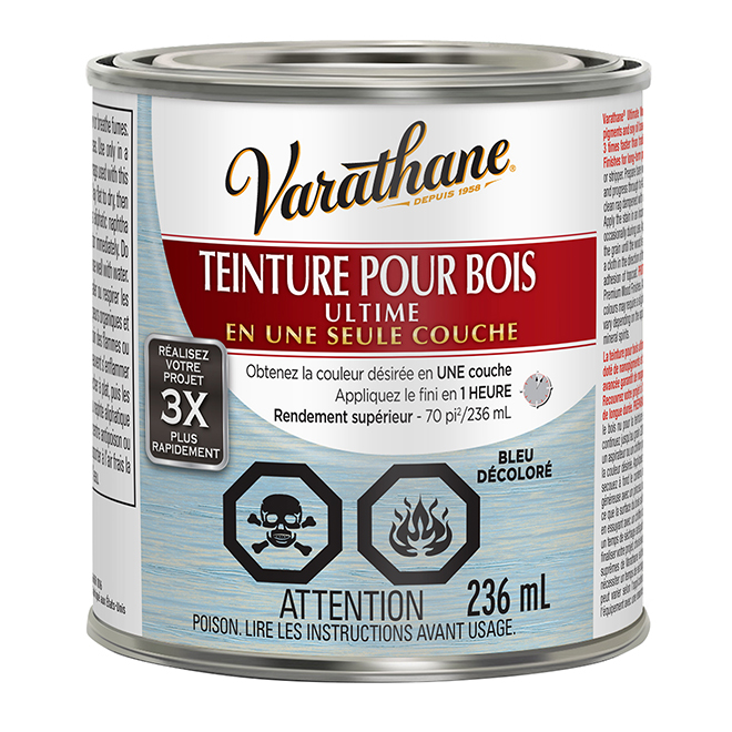 Teinture pour bois Ultime, 236 mL, bleu décoloré