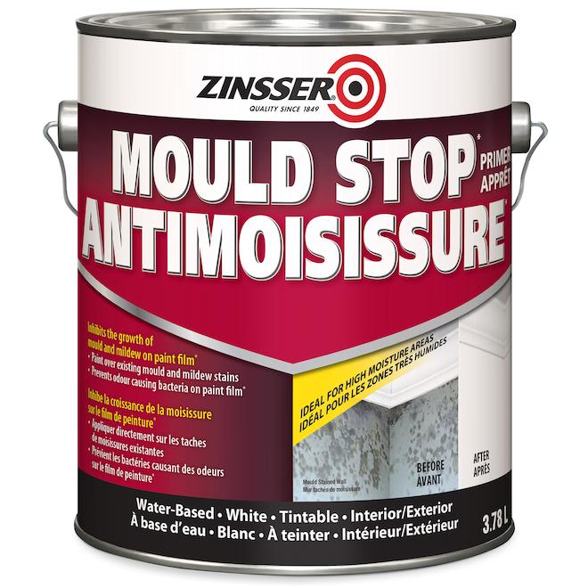 Zinsser Mould Stop Primer Interior/Exterior Water Based 3.78 L White