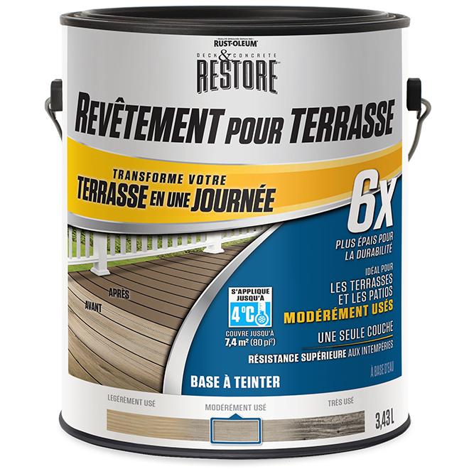 Base à teinter, resurfaceur de terrasse 6X, 3,43 l
