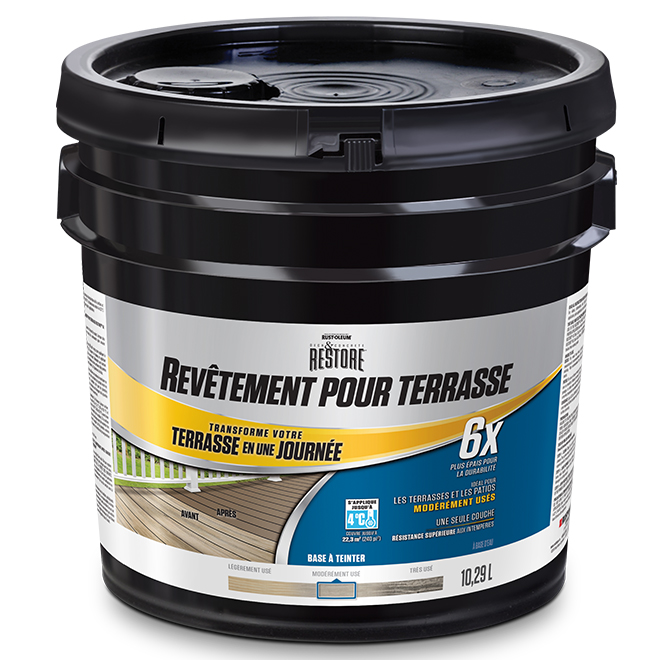 Base à tienter, resurfaceur de terrasse 6X, 10,29 l
