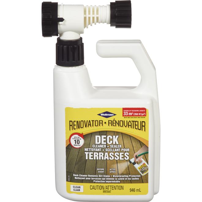 Nettoyant/scellant de terrasse Wolman Rénovateur, 946 ml, clair