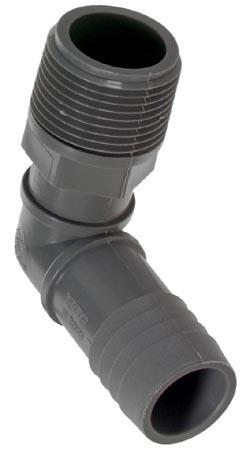 Combined Elbow Polyethylene Adapter - 1'' x 1''