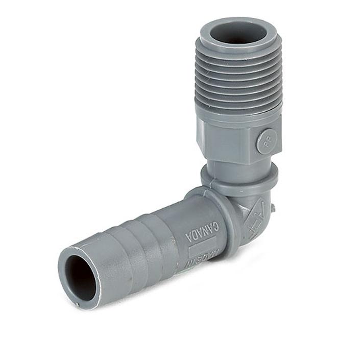 Combined Elbow Polyethylene Adapter - 1 1/4'' x 1 1/4''
