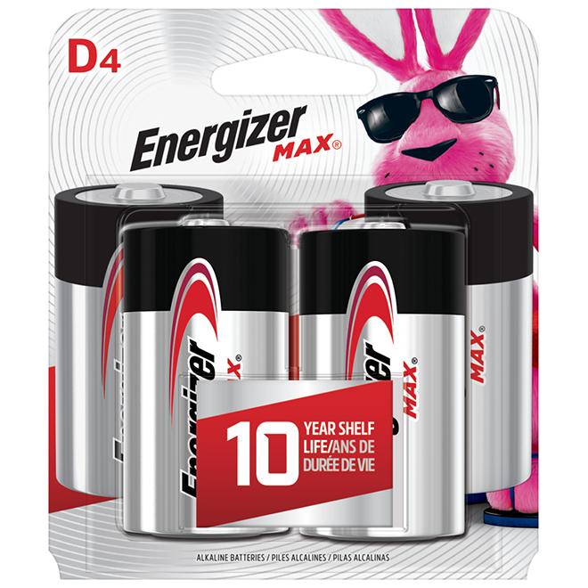Alkaline Batteries D Max - Pack of 4