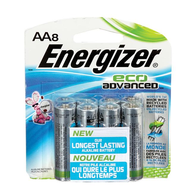 Paquet de 8 piles alcalines «Eco Advanced» AA