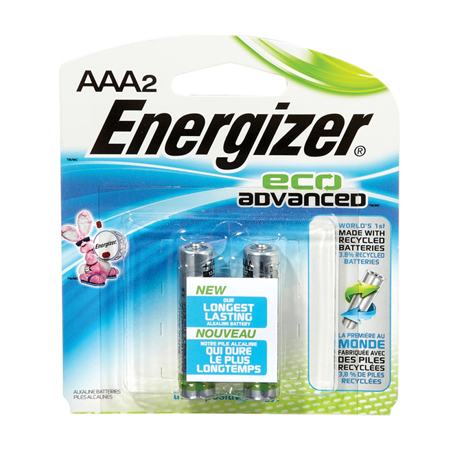 Paquet de 2 piles alcalines «Eco Advanced» AAA