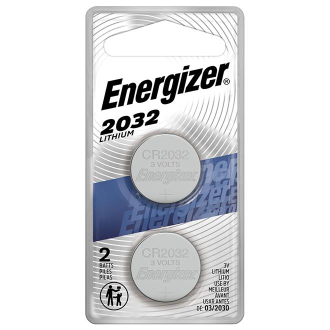 Pile miniature 2032 au lithium, 3 V, 2/pqt
