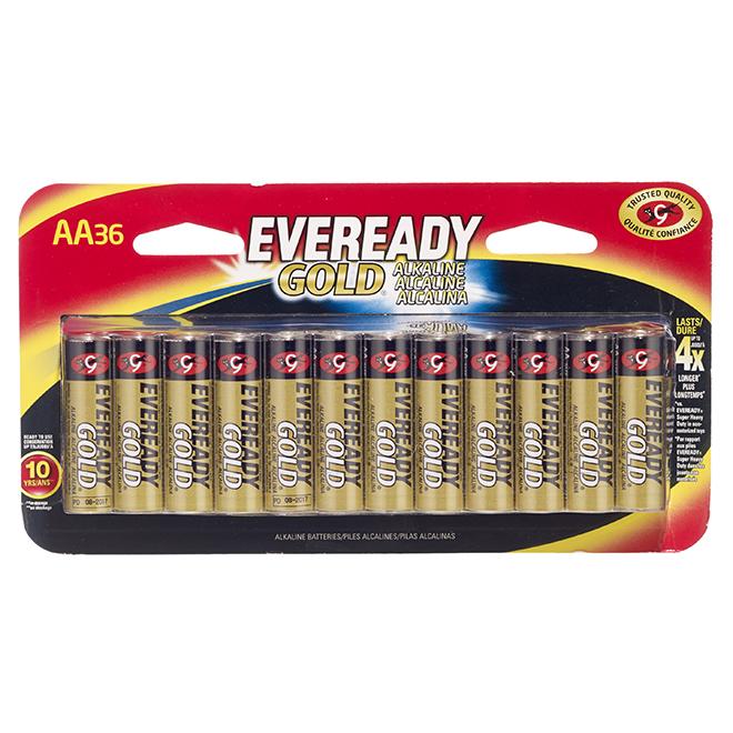 Alkaline AA Batteries - Pack of 36