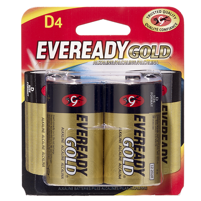 Alkaline D Batteries - Pack of 4