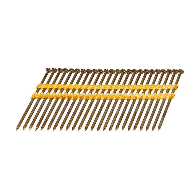 "Framing Nail - 21° - 3 1/2"" - Galvanized - 3000/Box"