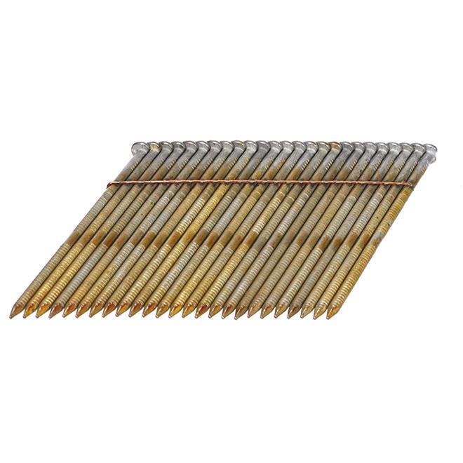 """Framing Nail - Ring Shank - 28° - 3 1/4"""" - Galvanized - 3000/Box"""