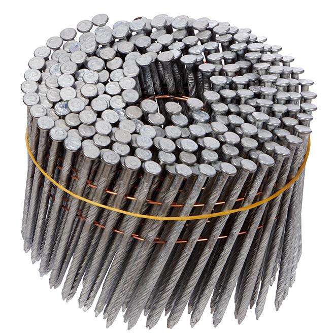 "Framing Nails - 15° - Galvanized Steel - 3.25"" - Box of 4000"