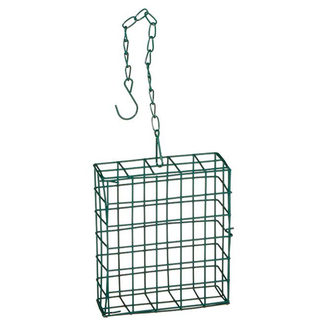 Suet Cage - Metal - Green