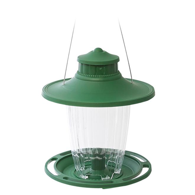 Stokes Lantern Bird Feeder - 3.8 lb - Plastic - Forest Green
