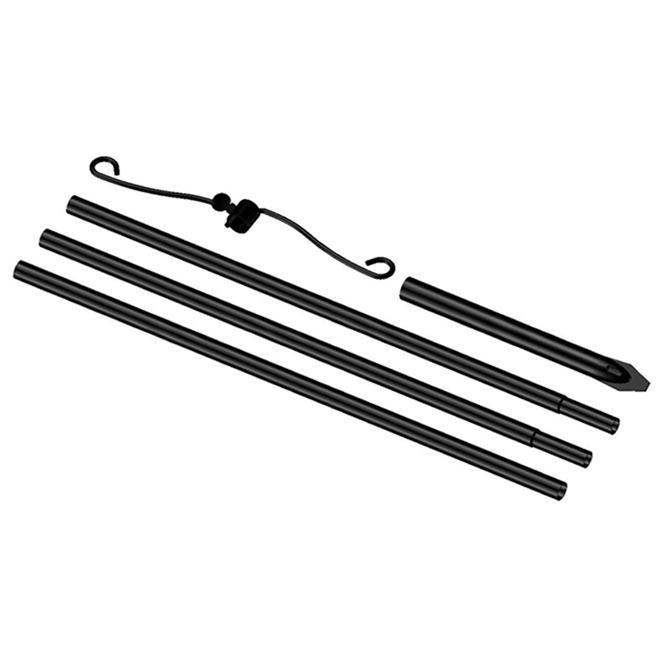 Trousse pour support de mangeoire Stokes, 92 po, acier, noir