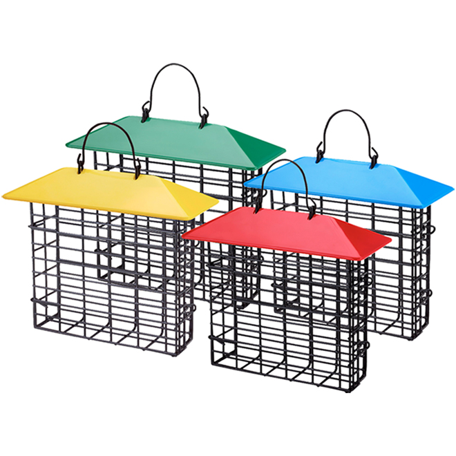 Stokes Single Suet Cage with Weather Guard - 5.64 oz - Assorted Colours