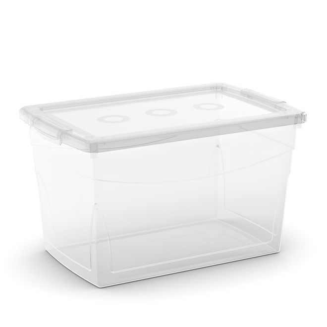 Kis Omni Storage Box - Plastic - 29-Litre - 18.3 x 12 x 10.7-in - Clear