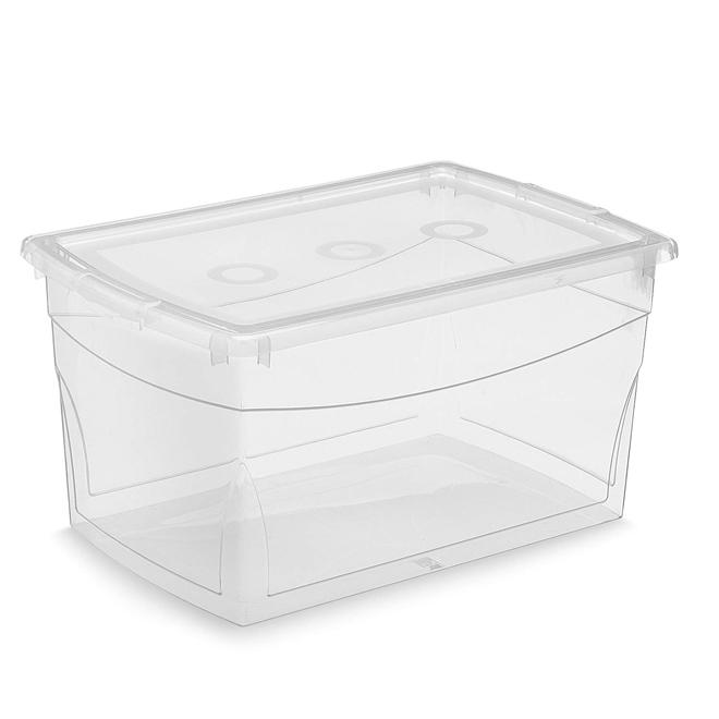 Boîte de rangement Omni Kis, plastique, 50 litres, 23,1 x 15,4 x 11,9 po, clair